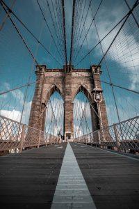 Brooklyn Bridge walkway.