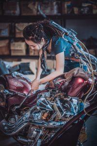 Woman mechanic.