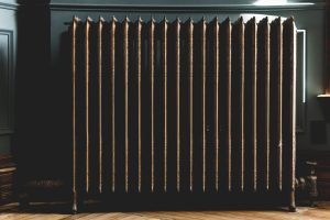 Gray oil radiator.