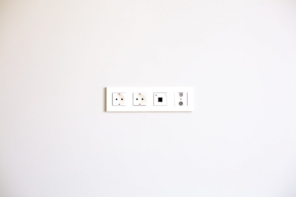 White electric outlet.