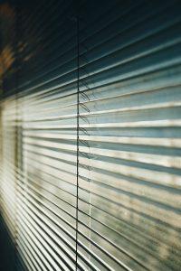 Window blinds.